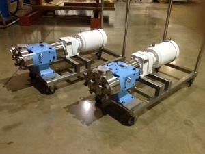 Waukesha PD Pumps with Washdown Motors