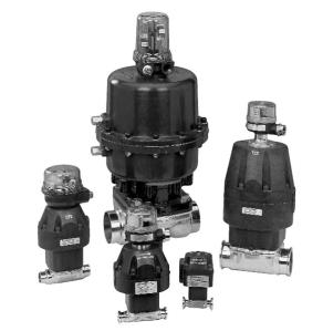 Sanitary Diaphragm Valves use Linear  Pneumatic Actuators