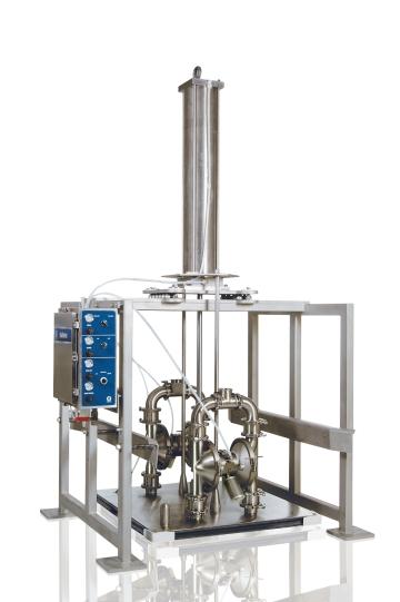 Graco Sanitary Bin Unloading System using 2  Sanitary Double Diaphragm Pumps