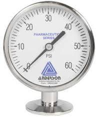 Anderson EL Sanitary Pressure Gauge