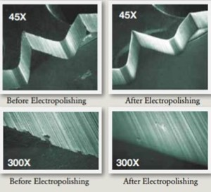 Examples of the Affect of Electropolishing